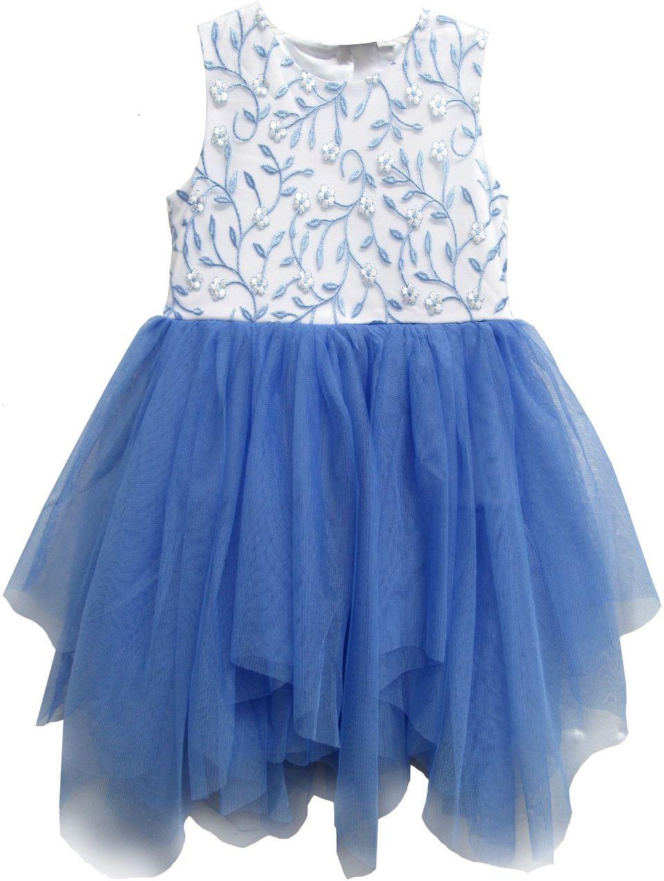 Topo Dievčenské šaty - bielo-modré značky Topo - Lovely.sk 05356162ec4