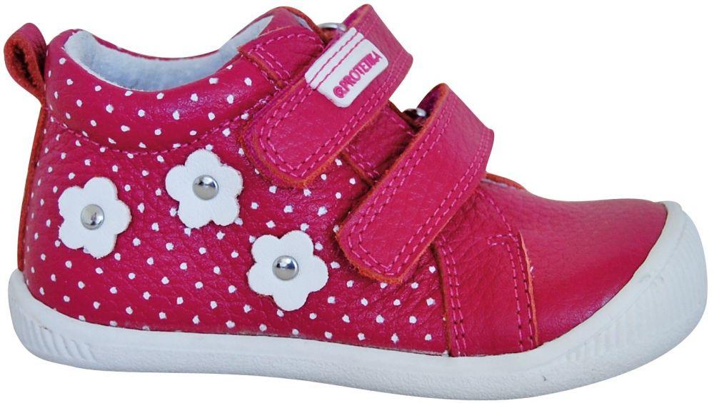 Protetika Dievčenské členkové topánky Rut - tmavo ružové značky ... b7cef73a531