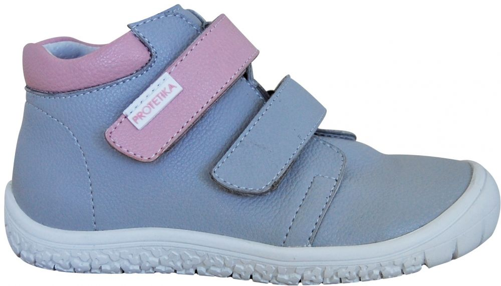 9b0d487f3790 Protetika Dievčenské členkové barefoot topánky Margo - šedé značky ...