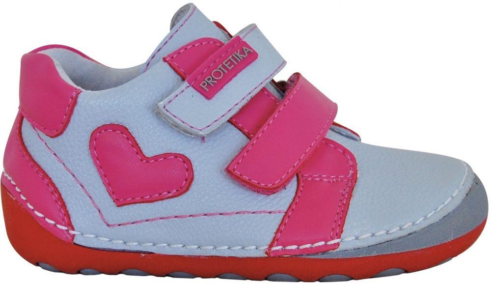 1b284c53520c Protetika Dievčenské členkové topánky PONY - šedo-ružové značky ...