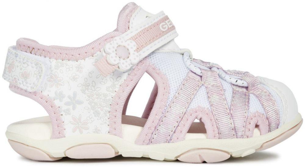 Geox Dievčenské sandále Agasim - bielo-ružové značky Geox - Lovely.sk 135cb8a93b