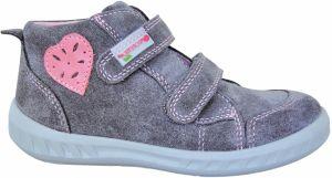 Protetika Dievčenské členkové topánky Tala - šedo-ružové značky ... d76e25a7aee