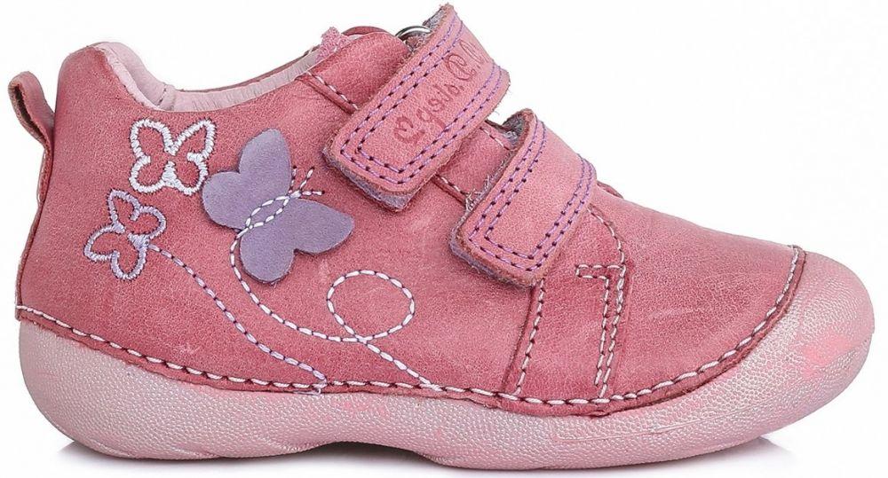 68df3602b D.D.step Dievčenské členkové topánky s motýlikom - ružové značky D.D.step -  Lovely.sk
