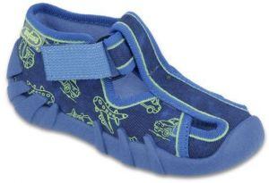 fe9245a5aa6e Befado Dievčenské bodkované balerínky s mašľou Blanca - tmavo modré ...