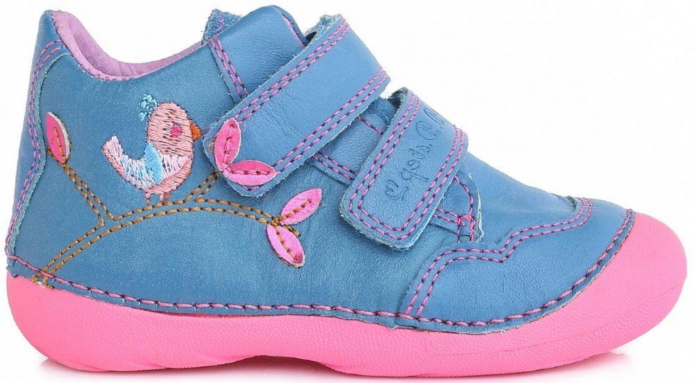 8e836986babc8 D.D.step Dievčenské členkové topánky s vtáčikom - modré značky D.D.step -  Lovely.sk
