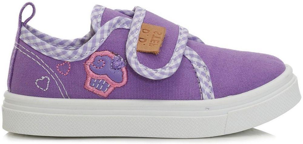 D.D.step Dievčenské plátené tenisky s tortičky - fialové značky D.D.step -  Lovely.sk 56bdd789336