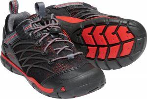 a2ba64f61cd55 Keen Detské outdoorové topánky Chandler CNX Youth-Raven / Fiery Red -  čierne galéria