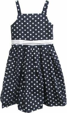 969fad6311c0 Topo Dievčenské bodkované šaty - čierne