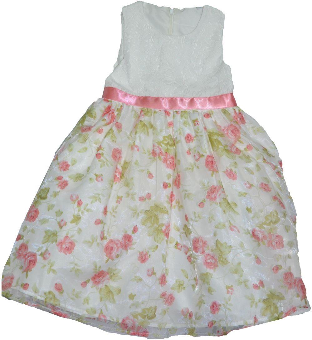 e0ccf1bc329b Topo Dievčenské spoločenské šaty s kvetmi - farebné značky Topo - Lovely.sk