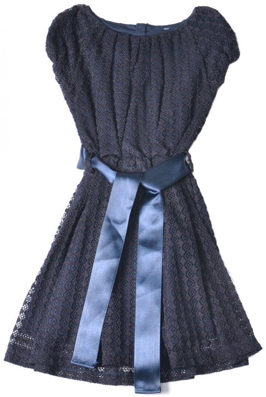 e77b2b5e1e72 Topo Dievčenské spoločenské šaty - tmavo modré značky Topo - Lovely.sk