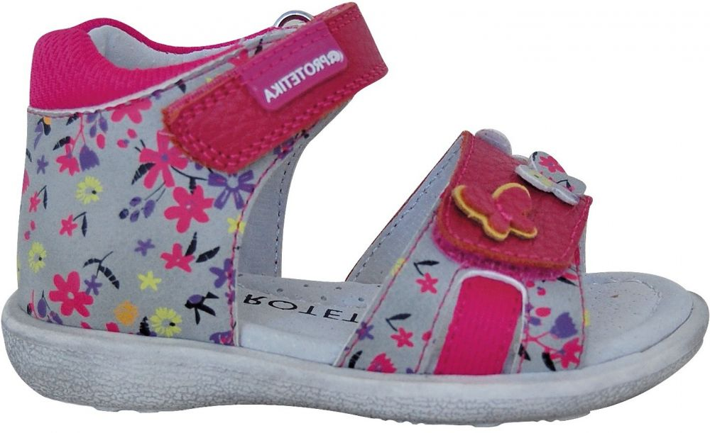ba50bdef338c Protetika Dievčenské sandále Mina - ružovo-šedé značky Protetika - Lovely.sk