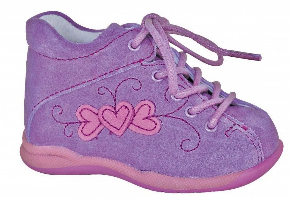 8197540983 Protetika Dievčenské kožené členkové topánočky Baby - fialové značky  Protetika - Lovely.sk