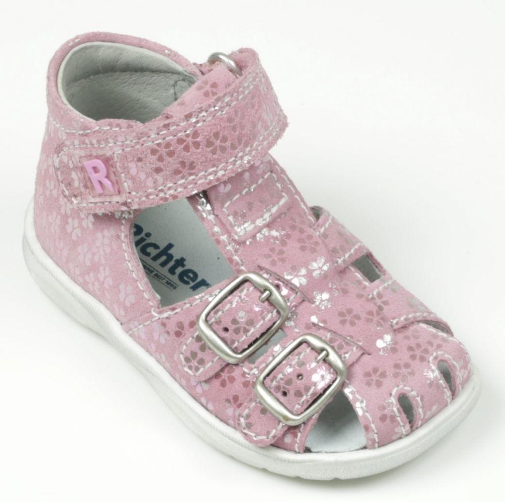 ca58e982b103 Richter Dievčenské sandálky s kvetinami - ružová značky Richter - Lovely.sk