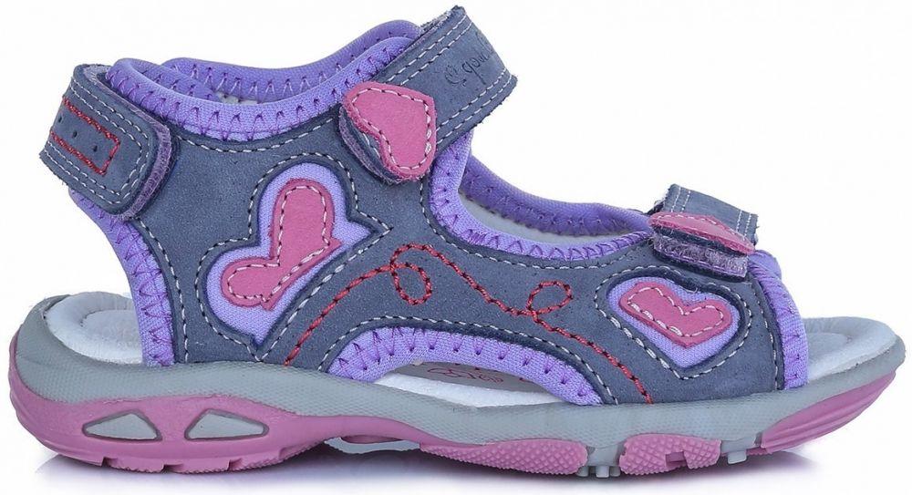 346c2520c5 D.D.step Dievčenské sandále so srdiečkami - fialové značky D.D.step -  Lovely.sk