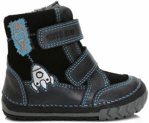 f7e7785964b9 D.D.step Chlapčenské zimné topánky s raketou - tmavo modré