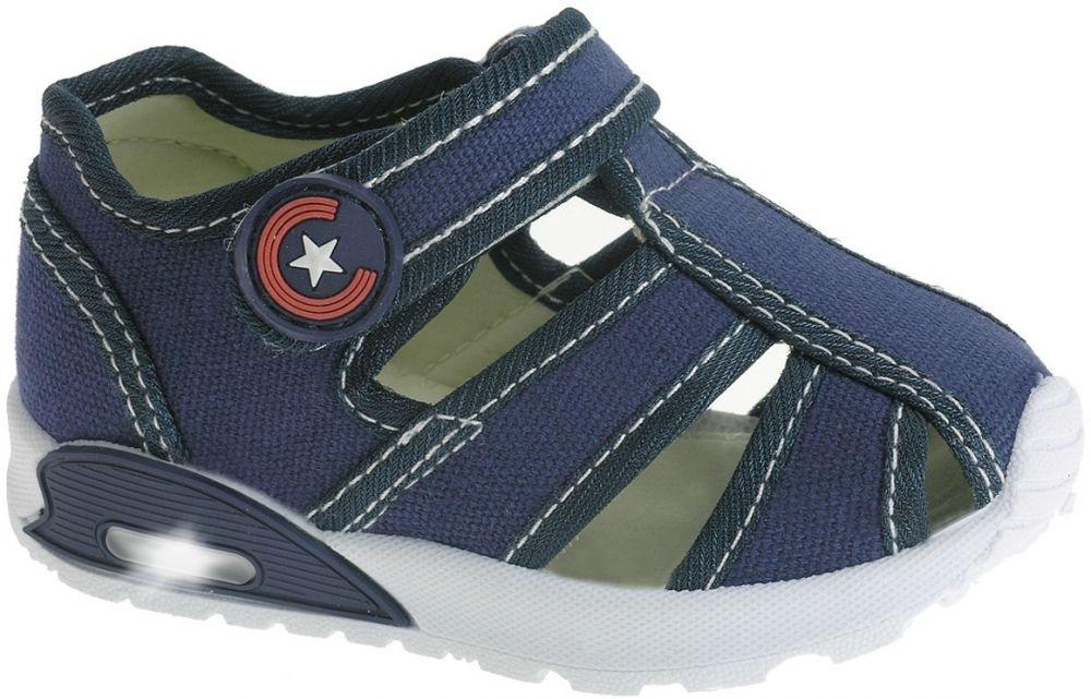 63b9572920596 Beppi Chlapčenské svietiace sandále - modré značky Beppi - Lovely.sk