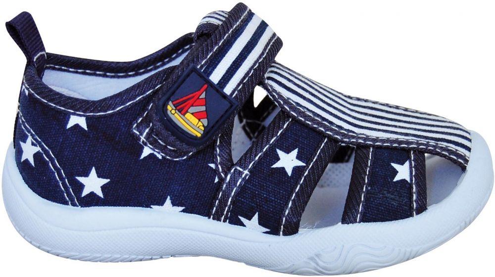 55b397697 Protetika Chlapčenské papučky s hviezdičkami - tmavo modré značky ...