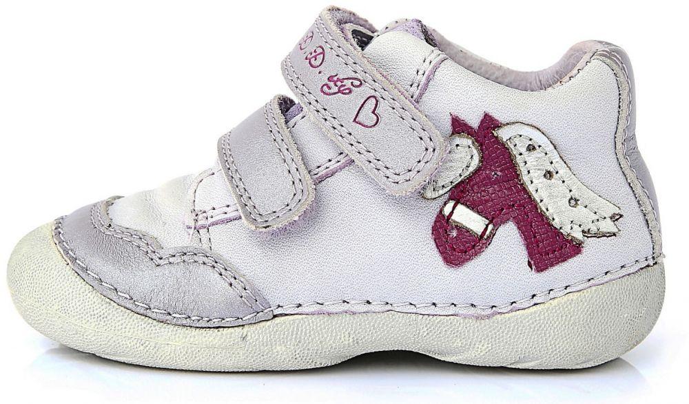 D.D.step Dievčenské členkové topánky s koníkom - svetlo fialovej značky  D.D.step - Lovely.sk 065d98e1891