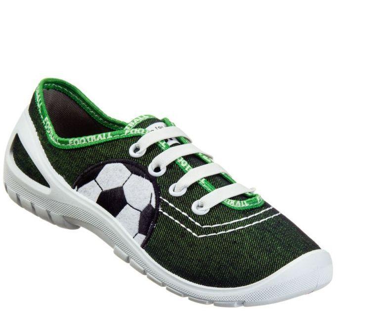 ff5a6e4d11d4 3F Chlapčenské papuče s futbalovou loptou - zelené značky 3F - Lovely.sk