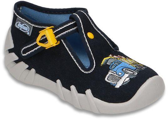 0b3cf3e9f821 Befado Chlapčenské papuče s nákladným autom Speedy - tmavo modré značky  Befado - Lovely.sk