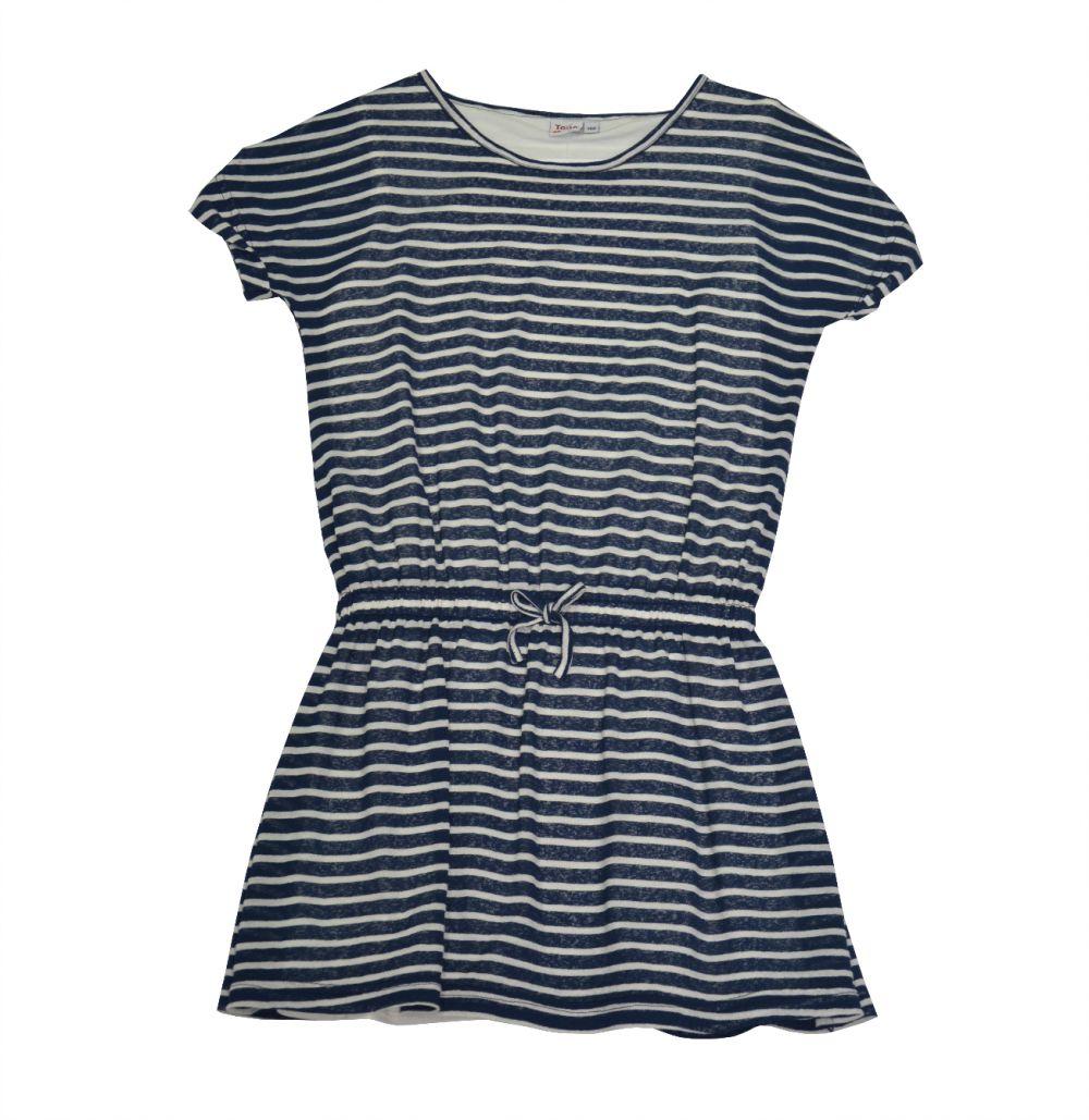 0876d935adc5 Topo Dievčenské pruhované šaty - modré značky Topo - Lovely.sk