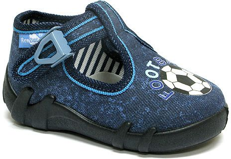 d25bd55f6ffe Ren But Chlapčenské papučky s futbalovou loptou - modré značky Ren But -  Lovely.sk
