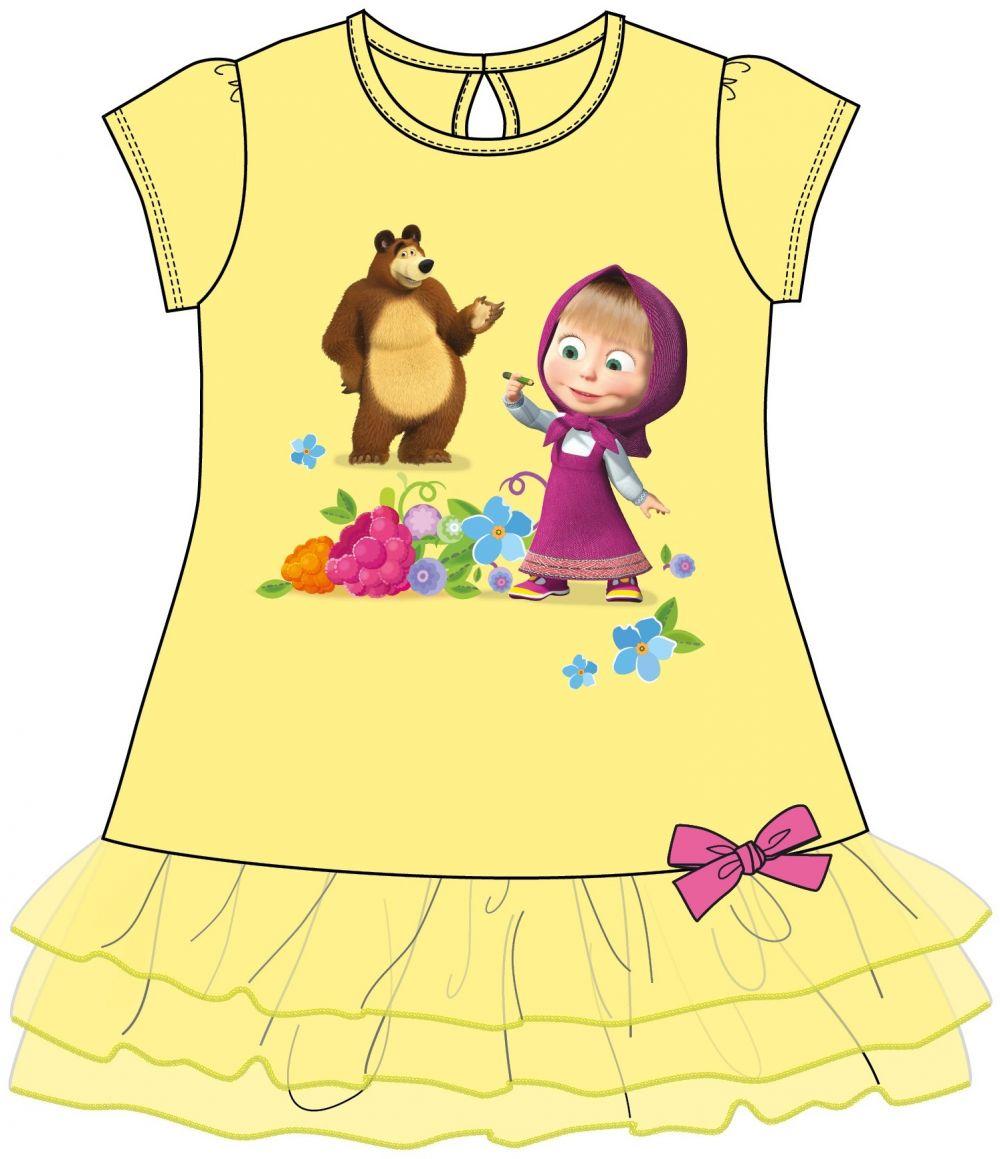 6debd3afb8d3 Disney by Arnetta Dievčenské šaty Máša a Medveď - žlté značky Disney by  Arnetta - Lovely.sk