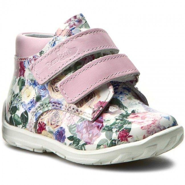 654c49f01371 Ren But Dievčenské celokožené členkové topánky - kvetinové značky Ren But -  Lovely.sk