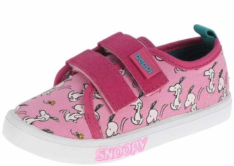 fd9a78126 Beppi Dievčenské plátené tenisky Snoopy - ružové značky Beppi - Lovely.sk
