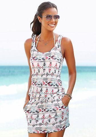 7d3f881a2ee5 Venice Beach Venice Beach Plážové šaty biela s potlačou 44 značky VENICE  BEACH - Lovely.sk