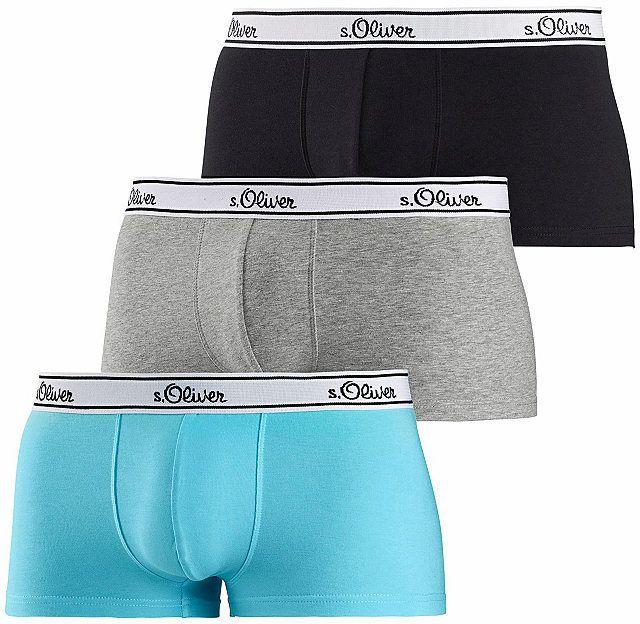 8afa765a0e Oliver RED LABEL Bokové boxerky 3ks - bavlna tyrkysová+sivá mel.+čierna XXL  (8)