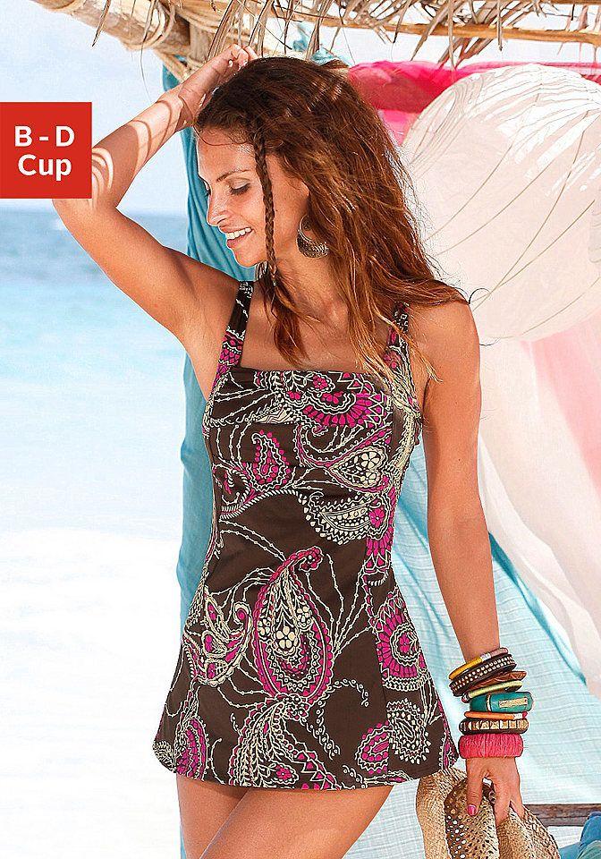 d91777eed3a Lascana Plavkové šaty, LASCANA hnedá - košík D 54 značky LASCANA - Lovely.sk