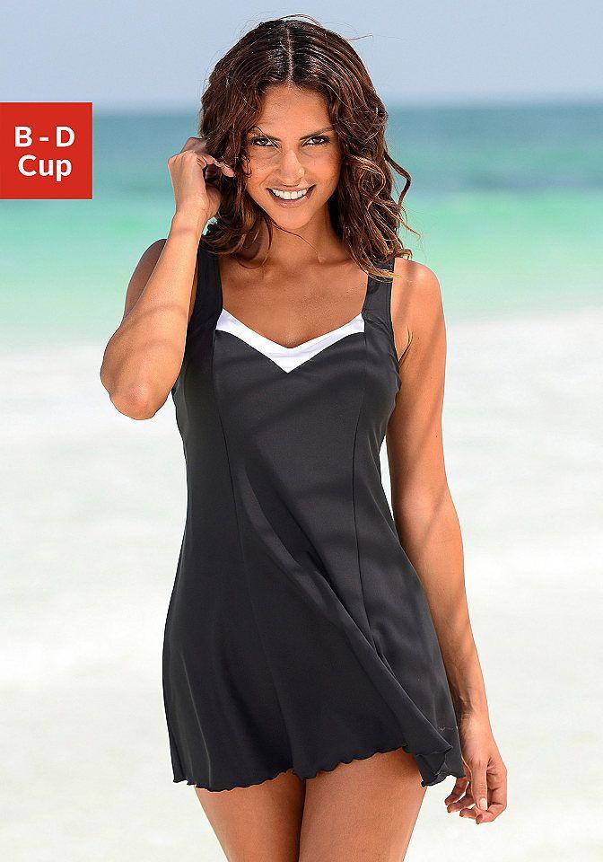 53e9fc315527 Lascana Plavkové šaty