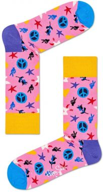 Happy Socks - Ponožky Peace & Love