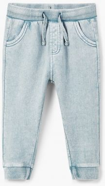 ae359d110c24 Tmavomodré chlapčenské formálne nohavice s jemným vzorom name it ...