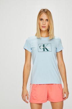 d086fbf1c Svetlomodré dámske tričko s potlačou Calvin Klein Jeans Shrunken ...