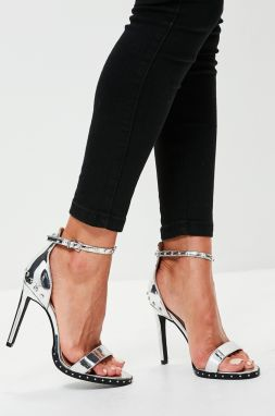 Missguided - Sandále Studded Sole Barely There