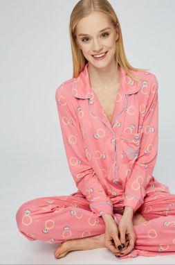 2f6704bed Family pyjamas Dámska nočná košeľa NIGHTDRESS MIRA 563 LIGHT PINK ...