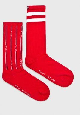 Ponožky Vysoké Unisex MANY MORNINGS - Pizza Italiana Červená Farebná ... 2e66968df3