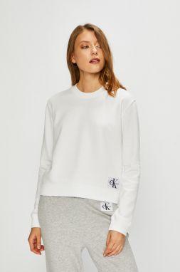 Biela dámska mikina s výšivkou Calvin Klein Jeans Core značky Calvin ... caa028a15db