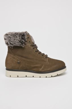 54adb2fdfdef Zelené semišové vodovzdorné zimné topánky Tamaris značky Tamaris ...