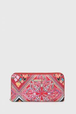 Desigual tehlovo červená peňaženka Dark Amber Ester s výšivkou ... cdbd33eb9ba