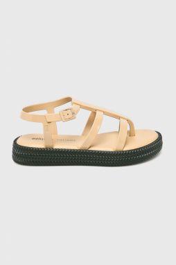 8a7479fd1861 Melissa béžové mramorové sandále na platforme Mar Beige značky ...