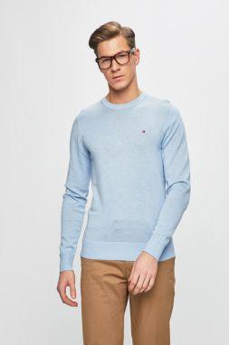 Tmavomodrý pánsky sveter s prímesou kašmíru Tommy Hilfiger Pima ... c3c04876ef