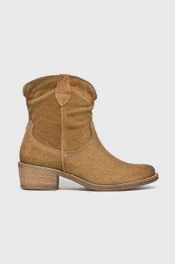 b335852b8cf9b Béžové členkové topánky v semišovej úprave Tamaris značky Tamaris ...