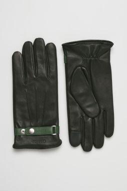 Hnedé pánske kožené rukavice s úpletom Portland značky Portland ... 97f2193c8a