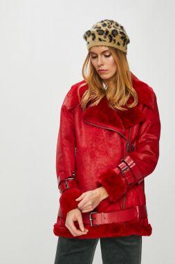 Červené bundy a kabáty z umelej kožušiny - Lovely.sk 63606b88433