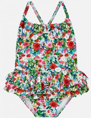 080c3bba4 Krémovo-zelené dievčenské dvojdielne plavky Roxy Hippie značky Roxy ...