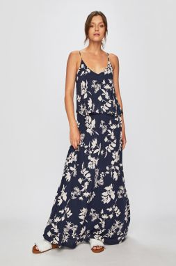 cbf4c37d9 Bielo-modré voľné pruhované šaty s volánom VILA Paira značky VILA ...