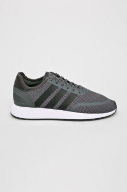 a4518612cb238 Sivé pánske kožené vzorované členkové tenisky adidas Originals ...